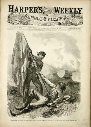 At the Battle of Bull Run, there were a number of Confederate regiments that used the Confederate national flag as their battle flag. While having a National flag that looks similar  to the old United States flag might have been comforting to the people of the newly formed Confederacy, it turned out to be a bad idea in battle.