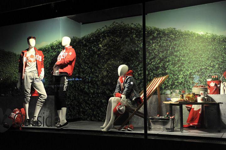 The Bay Fathers Day windows 2012, Toronto visual merchandising