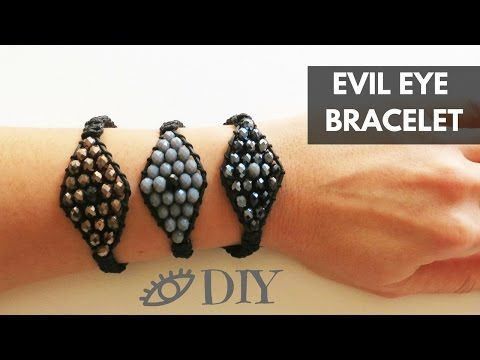 Make Evil Eye Crystal Bead Bracelet ♥ Φτιάξτε Βραχιόλι Μάτι Με Κρύσταλλα – Imagine Hearts