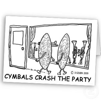 cymbals crash the party