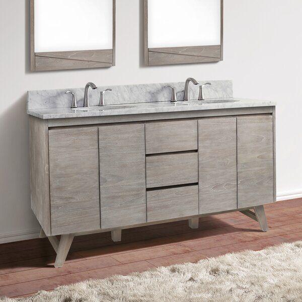 Langley Street Fiona 61 Double Bathroom Vanity Wayfair Double Vanity Bathroom Bathroom Vanity Grey Interior Doors