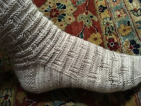 Running Bond Bricks Socks by Liz Harris – free