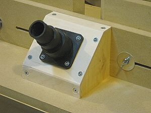 hmmm must make one of these!  --Router table fence - dust collection port.