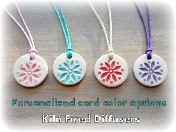 Kids Colorful Essential Oil Diffuser Pendant by KilnFiredDiffusers