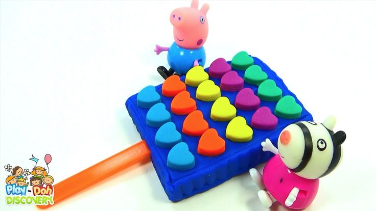 LEARN COLORS WITH PLAY DOH Rainbow Heart Popsicle made out of Play Doh F...