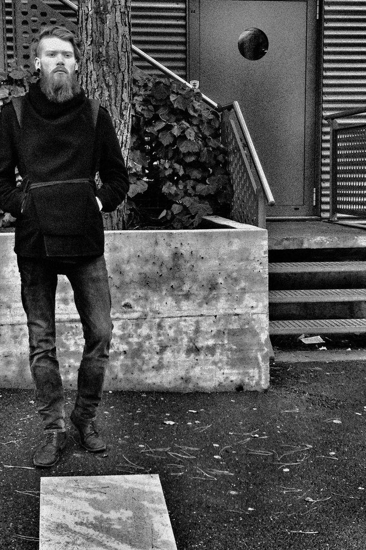 Ingimar wearing black wool Warmour™