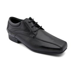 Times, Black Leather Boys Lace-up School Shoes http://www.startriteshoes.com/school-shoes/