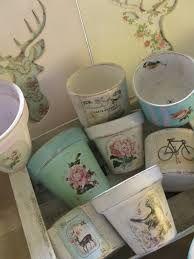 Resultado de imagen para latas decoradas para macetas