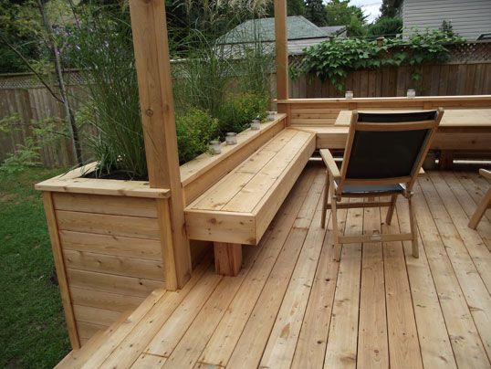 Got a deck? Built-in a planter.