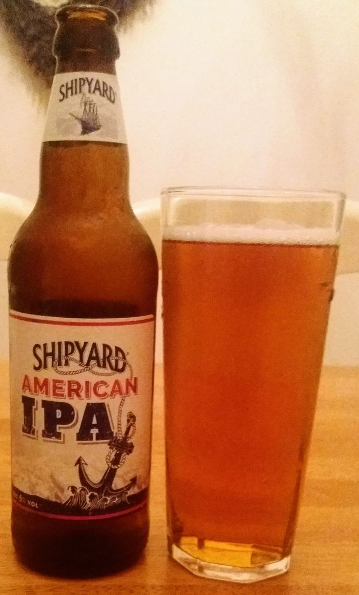 Shipyard American Ipa Brewed By Marstons In The Uk I Think A Refreshing Beer With A Dry Hoppy Top Note But Lacking In Body Refreshing Beer Beer Beer Label