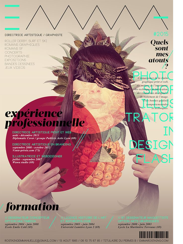 Profil Emma Rostaing Directrice Artistique Graphiste Traitement Image Graphiste Directeur Artistique