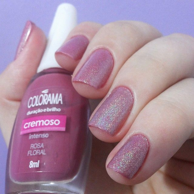 Unhas rosas. Pink Nails. Rosa floral da Colorama e Psicodélica da Jade. Nail art. Nail design. Polishes. Polish. Instagram photo by @morganapzk