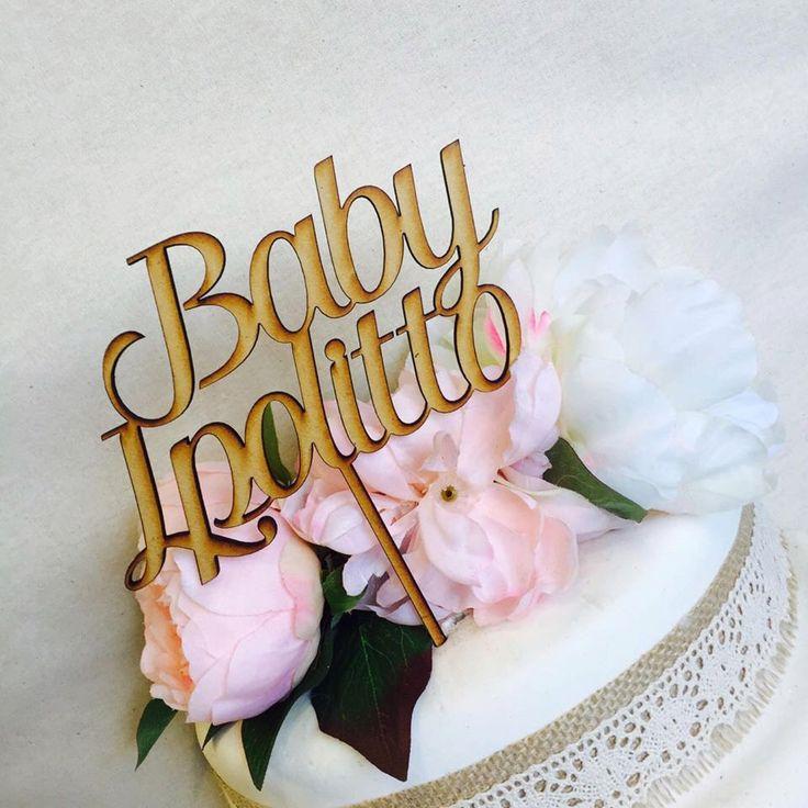 Baby Shower Personalised Cake Topper Cake Decoration Cake Decorating Cake Toppers Cupcake Toppers Baby Shower Cakes Personalised topper KTH by SugarBooBespokeGifts on Etsy https://www.etsy.com/au/listing/449360912/baby-shower-personalised-cake-topper