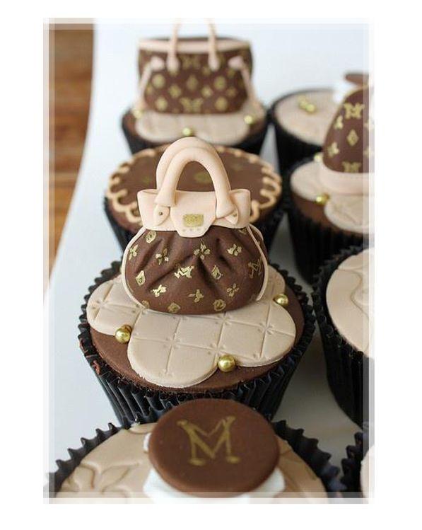 Louis Vuitton Themed Cupcakes