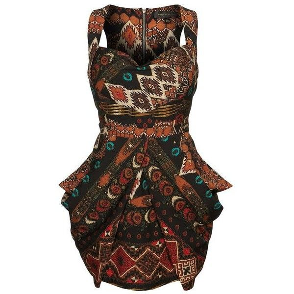 Abi Midi-African Print Skirt ❤ liked on Polyvore featuring skirts, brown skirt, african midi skirt, cotton skirts, brown cotton skirt and midi skirt