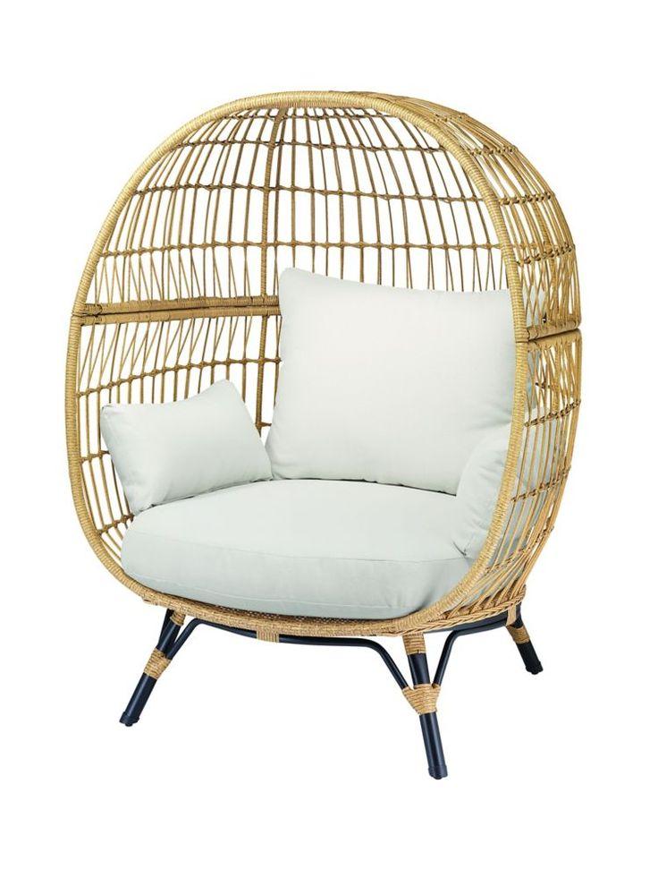 wicker egg chair home depot