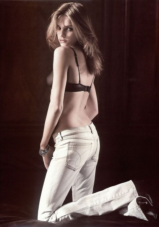Natalia Vodianova, Calvin Klein Jeans Fall/Winter 2003 #whitejeans