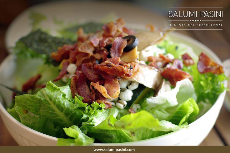 Ceasar salad con briciole di Bacon / Ceasar Salad with Bacon! #salumipasini #bacon #pancetta #pranzo #lunch #salad #charcuterie