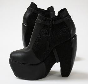 Klackskor med kilklack - Stövlar & Stövletter - Skor - Dam - Modekungen - Mode online | Kläder, Skor & Accessoarer