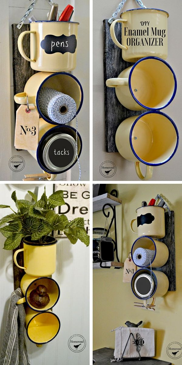 Check out the tutorial: #DIY Enamel Mug Organizer @istandarddesign