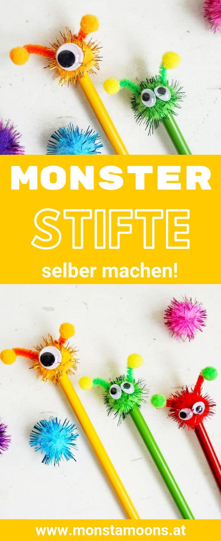 Pimpe deine Stifte – Monster/Alienstifte schnell selbst gemacht (enthält WERBUNG