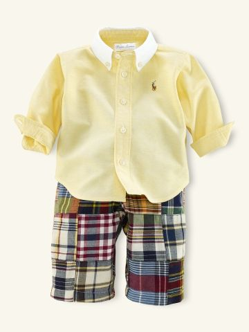 For his first trip to Nantucket! Madras Patchwork Pant Set - Layette Outfits & Gift Sets - RalphLauren.com