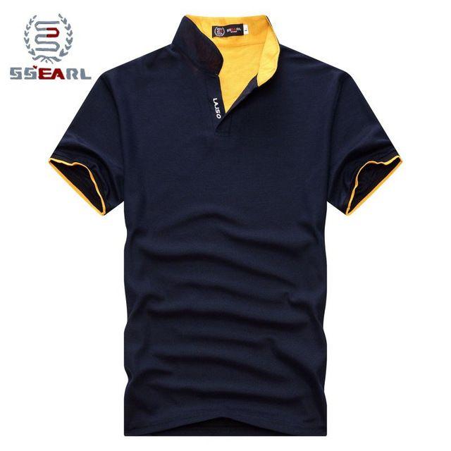 Q. e. j nova 2016 marca sólida gola polo camisa casual homens verão curto luva camisa polo slim fit camisa dos homens em Polo de Dos homens de Roupas & Acessórios no AliExpress.com   Alibaba Group