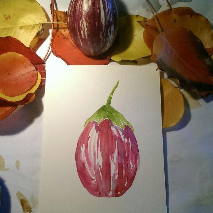 Baby eggplant too cute