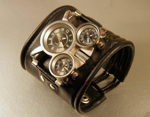 Men's wrist watch Leather bracelet Pathfinder SALE by dganin