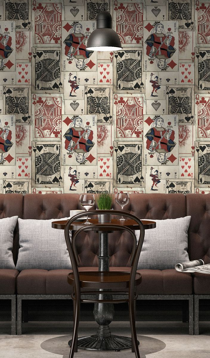 PLAY CARDS Wallpaper from Circus Life Collection by MINDTHEGAP