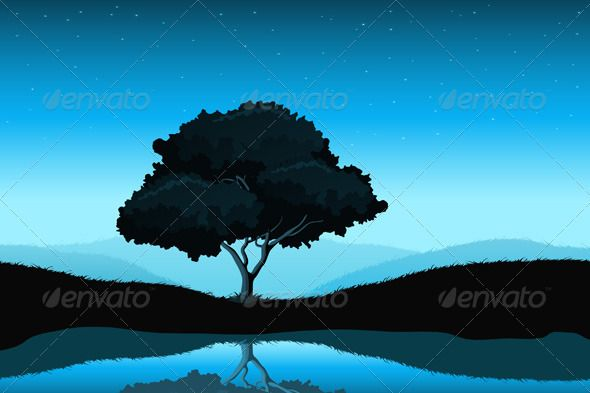 Amazing Landscape  #GraphicRiver         Amazing landscape with tree lake and sky     Created: 12January12 GraphicsFilesIncluded: VectorEPS Layered: Yes MinimumAdobeCSVersion: CS Tags: backgrounds #beauty #blue #grass #hill #horizon #lake #land #landscape #landscaped #mountain #nature #night #scene #scenics #silhouette #sky #summer #tranquil #tree #twilight #vector