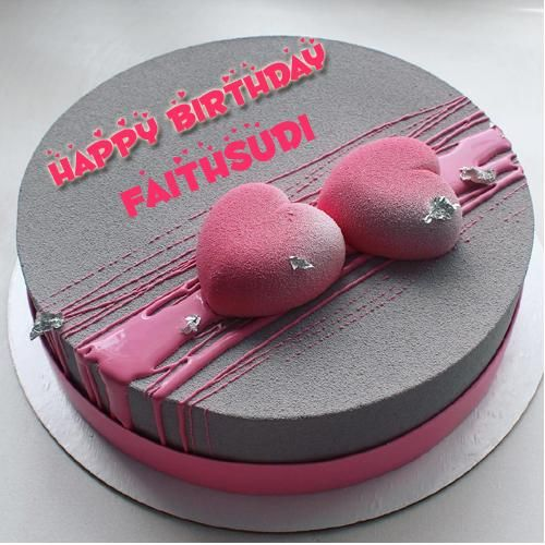 Romantic Couple Heart Birthday Wishes Cake With Name