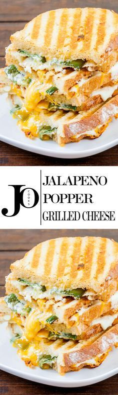 Jalapeno Popper Grilled Cheese – these beauties are all melty inside and oozing with gooey cheese and they also pack some heat. You should try one.