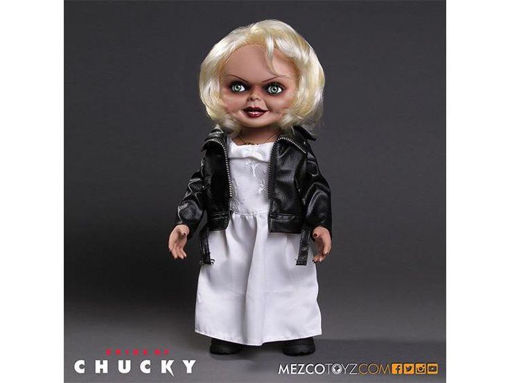 """*IN-STOCK* TIFFANY: Bride of Chucky 15"""" Talking Tiffany Figure By Mezco"""