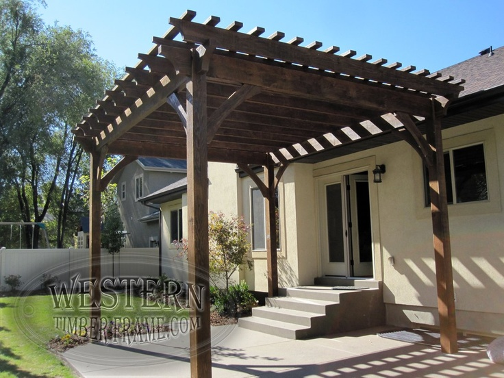419 best free standing pergolas images on pinterest for Diy free standing pergola
