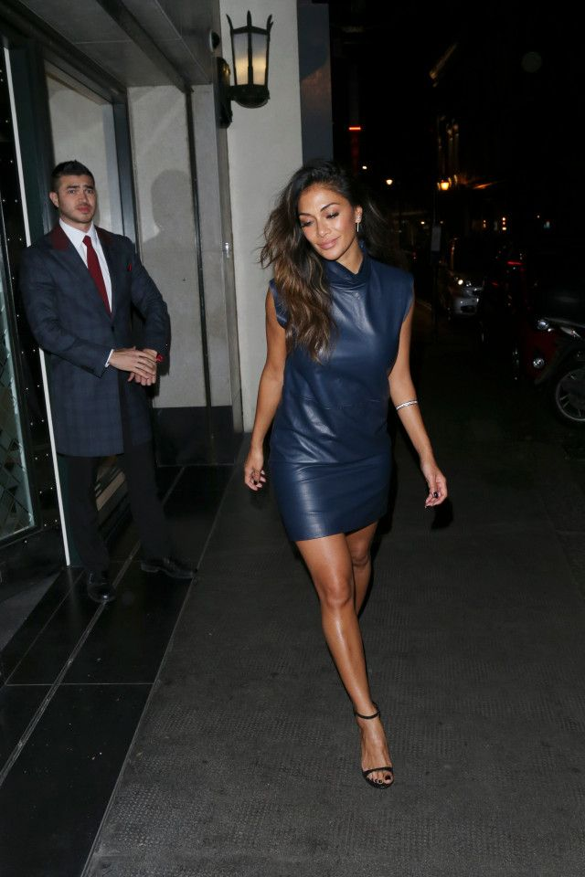 Nicole leaving The Ivy nightclub in London