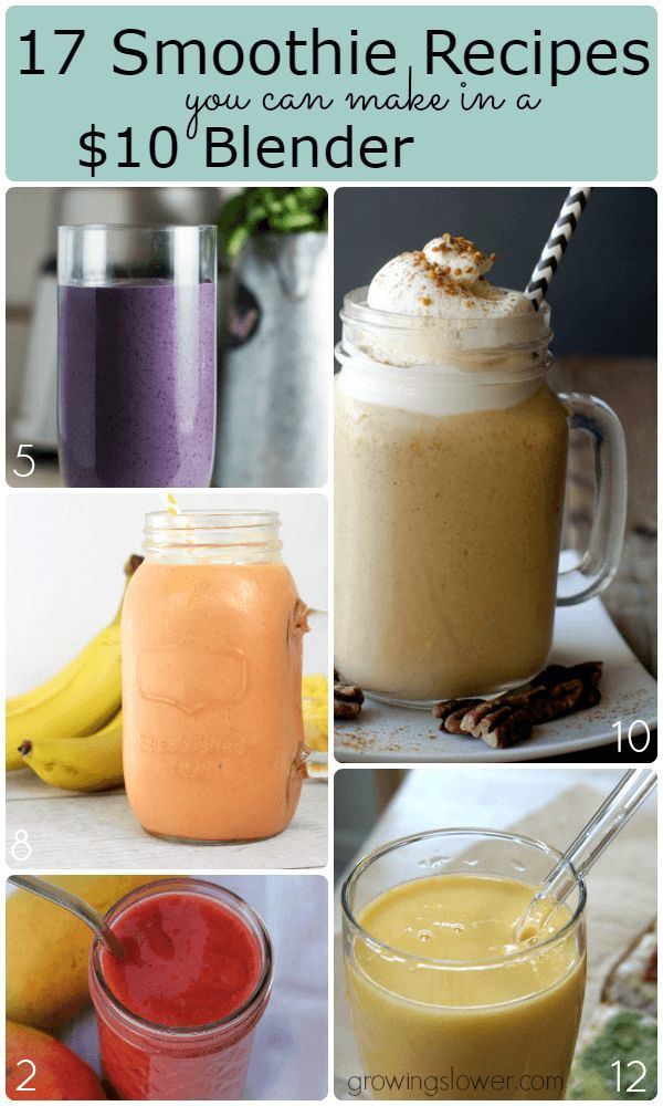 If you don't have hundreds to spend on a top of the line blender, but still want to make healthy and delicious smoothies, check out these 17 yummy cheap blender smoothies.