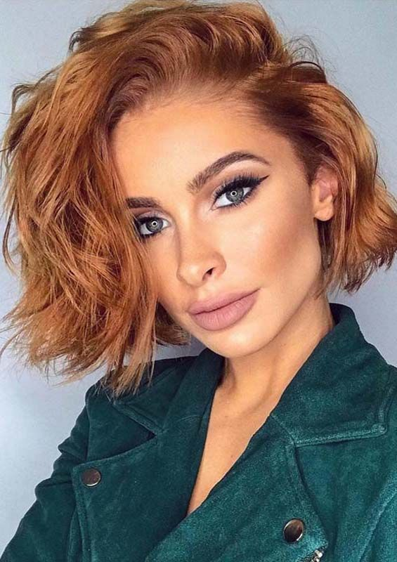 Best Golden Blonde Haircuts & Hair Color Trends for 2018 | Messy bob hairstyles, Bobs for thin ...