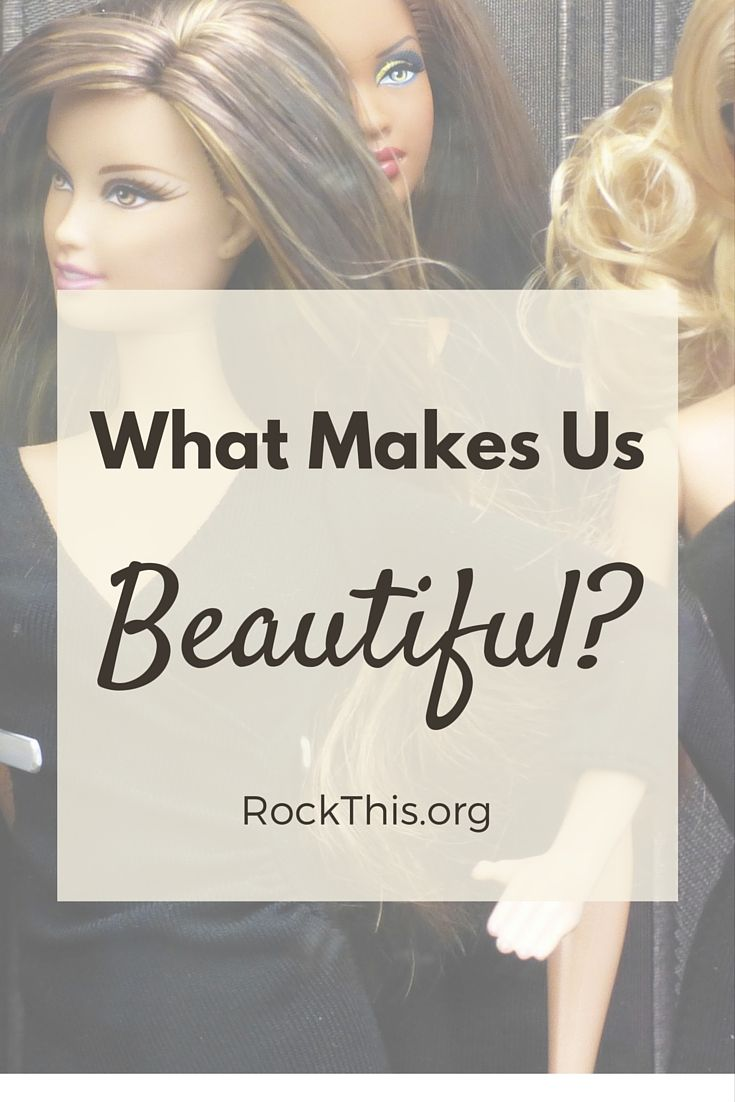 "Every day we are INUNDATED with the world's view of beauty.  What a refreshing read on God's standard of beauty.  ""Perhaps in the frantic attempt to repair our badly broken standards of beauty, we'll finally succeed in accurately identifying the problem.  That being: The only one who has the right to define beauty is the God who created it."""