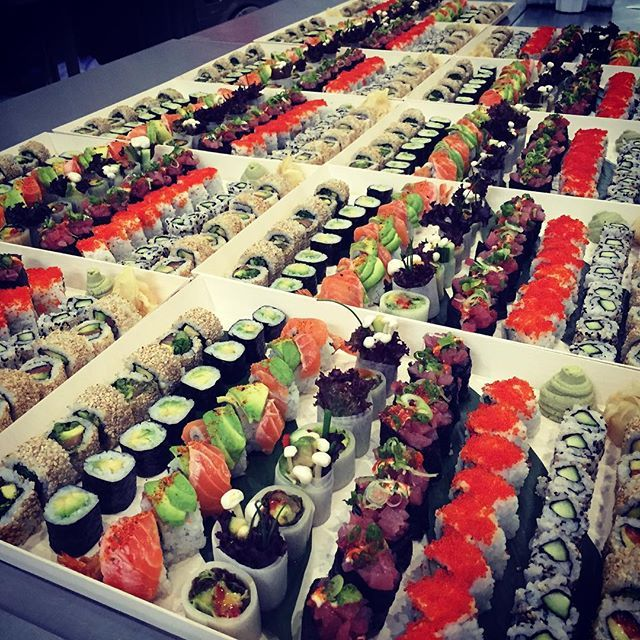 Miles and miles of #sushi delivered to #London Bridge on Saturday #foodporn #food #catering