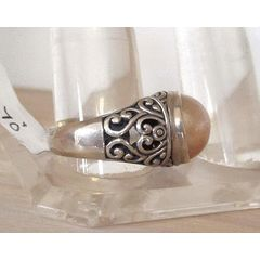 925 SILVER CHAMPAGNE MABE PEARL RING SIZE 9 for R470.00