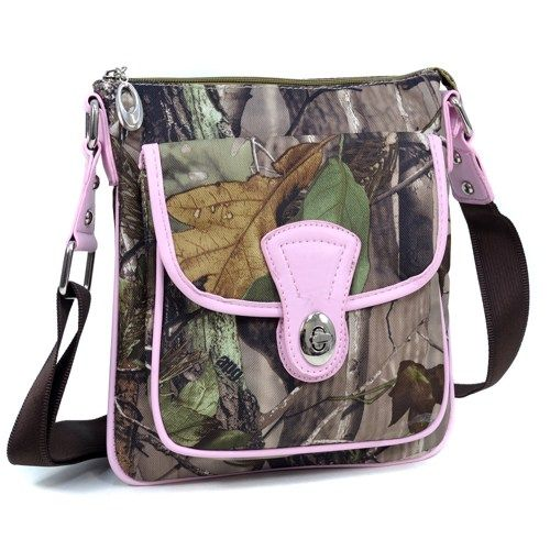 Realtreecamouflage messenger bag with top twist lock closure pocket | JannysStorybeads - Bags & Purses on ArtFire