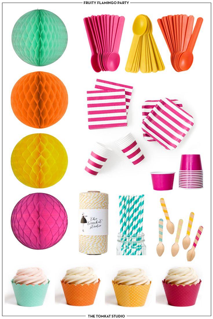 Fruity Flamingo Party Supplies | The TomKat Studio