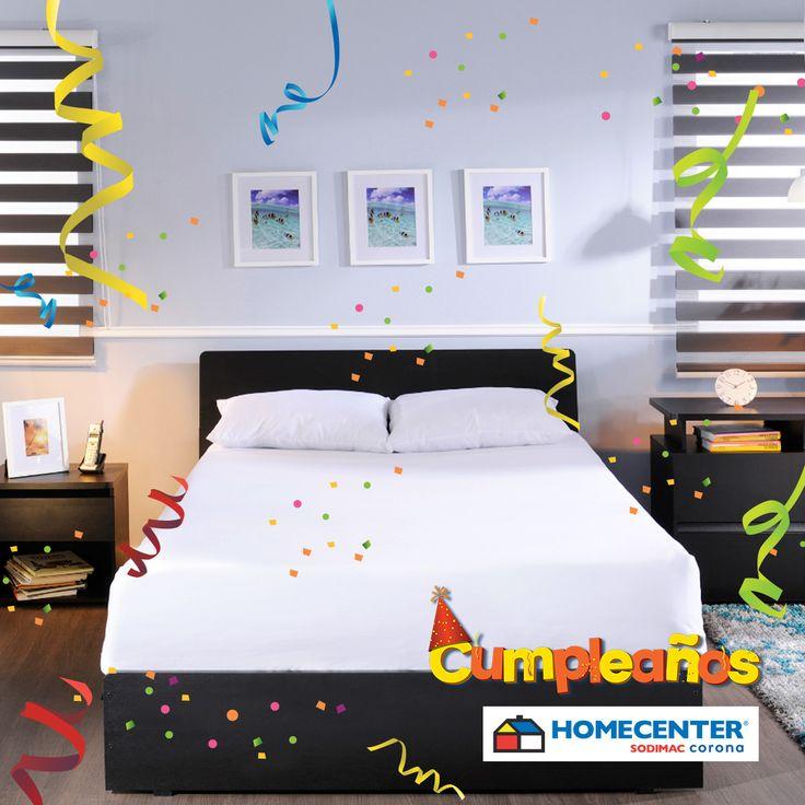 #CumpleañosHomecenter lleva este espectacular combo cama doble + 2 mesas de noche + cajonera a tan solo $649.900. Pregunta por nuestro servicio de armado ¡Te esperamos!