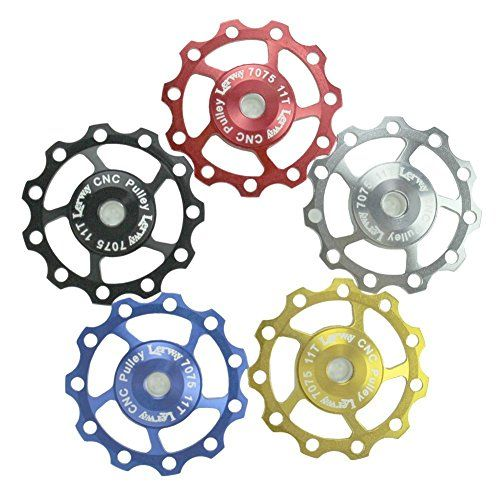 Lerway-A-06-Aluminio-Jockey-Rueda-Desviador-Cambio-Trasero-Polea-Gua-rodillo-loco-For-SHIMANO-SRAM-11T-Pack-de-2