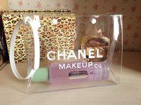 2014 Brand Women Makeup Bag Portable Transparent Cosmetic Bag Cosmetic Cases Large Capacity Sandbeach Bags HZB1005