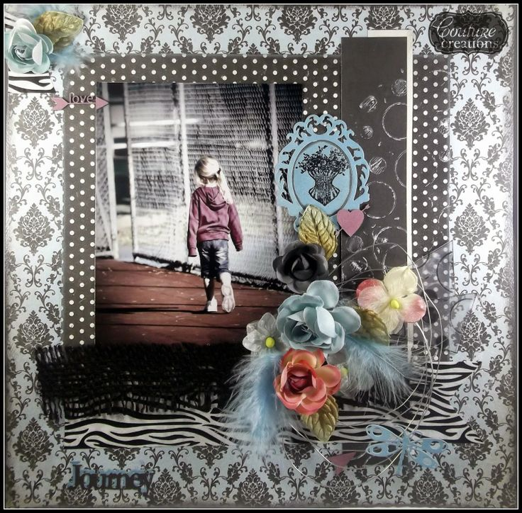 Couture Creations: A Journey by Tracey Cooley   #couturecreationsaus #scrapbooking #decorativedies #embossingfolders #tutorial