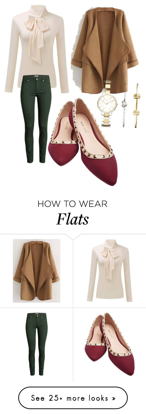"""""""Untitled #1"""" by maggiedust on Polyvore featuring Wet Seal, WithChic, H&M and FOSSIL"""