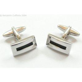 Black Letter Box Cufflinks - A classic set of black line cufflinks with a stylish finish.