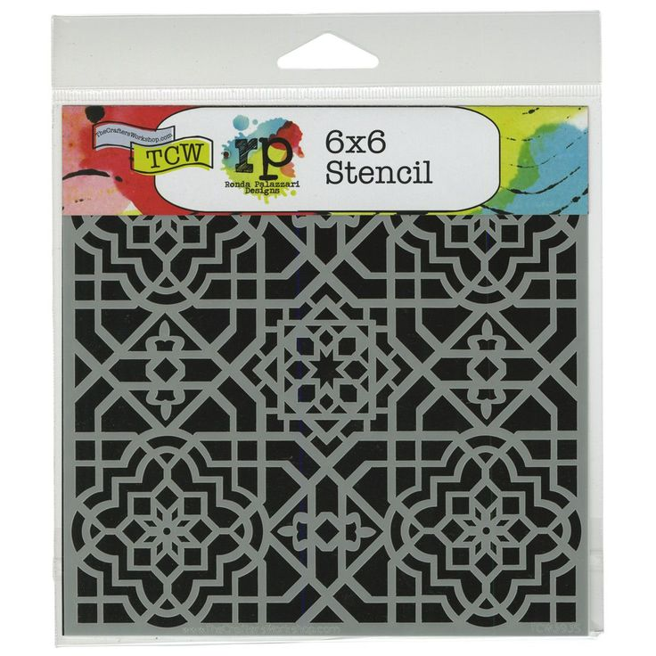 "Crafter's Workshop Template 6""""X6""""-Ceiling Tile"